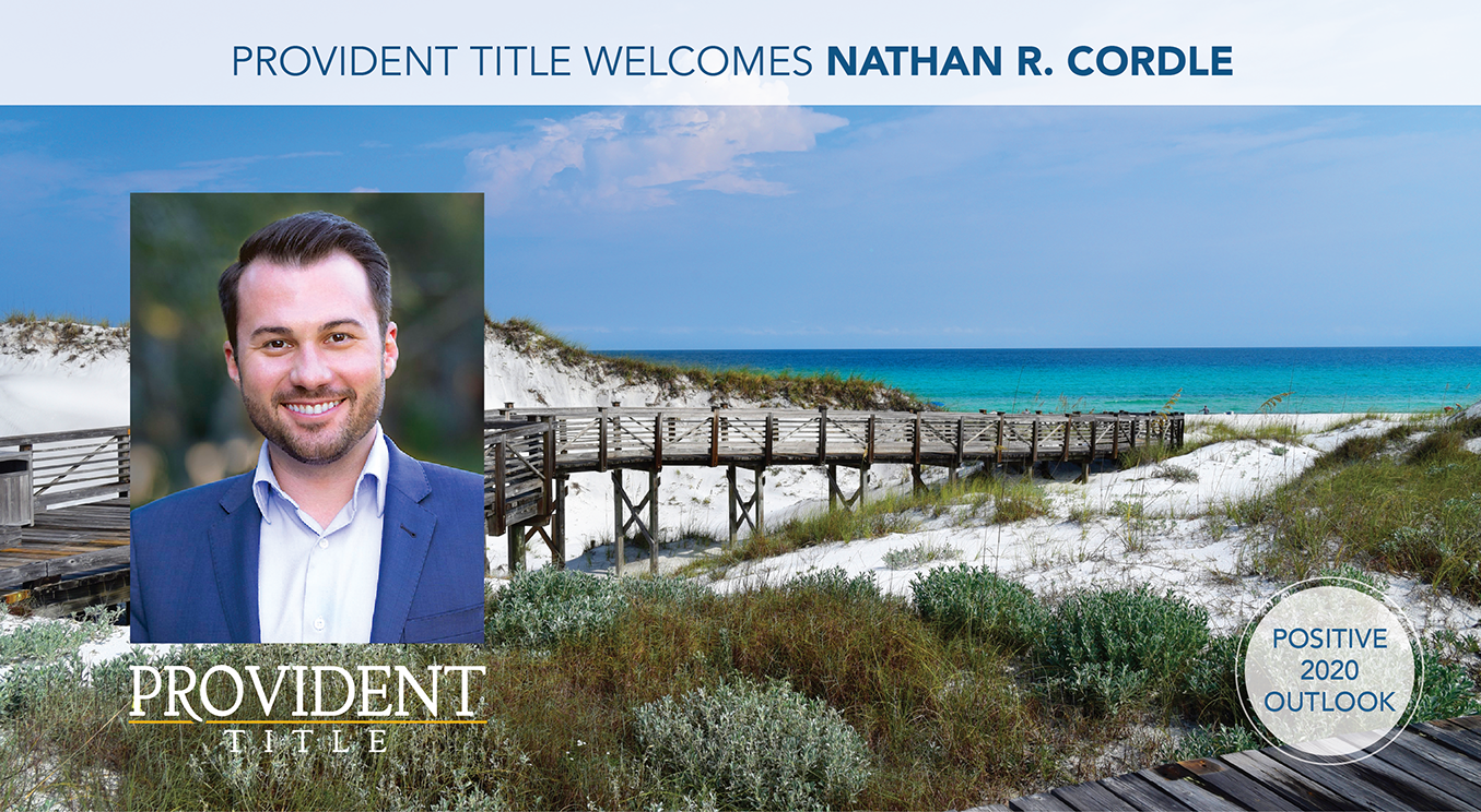 Provident Title Welcomes Nathan Cordle Jan 2020
