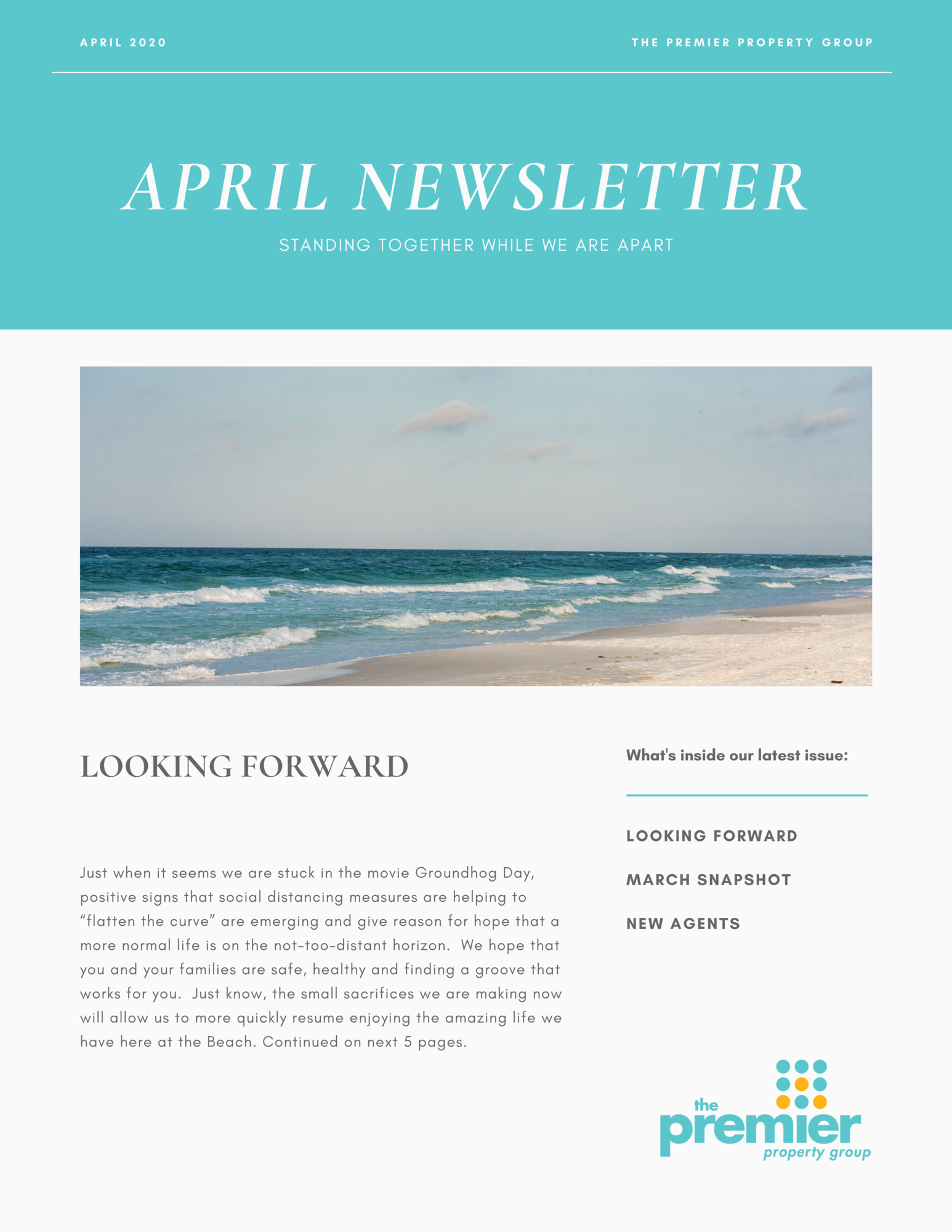 April 2020 Newsletter Page 1