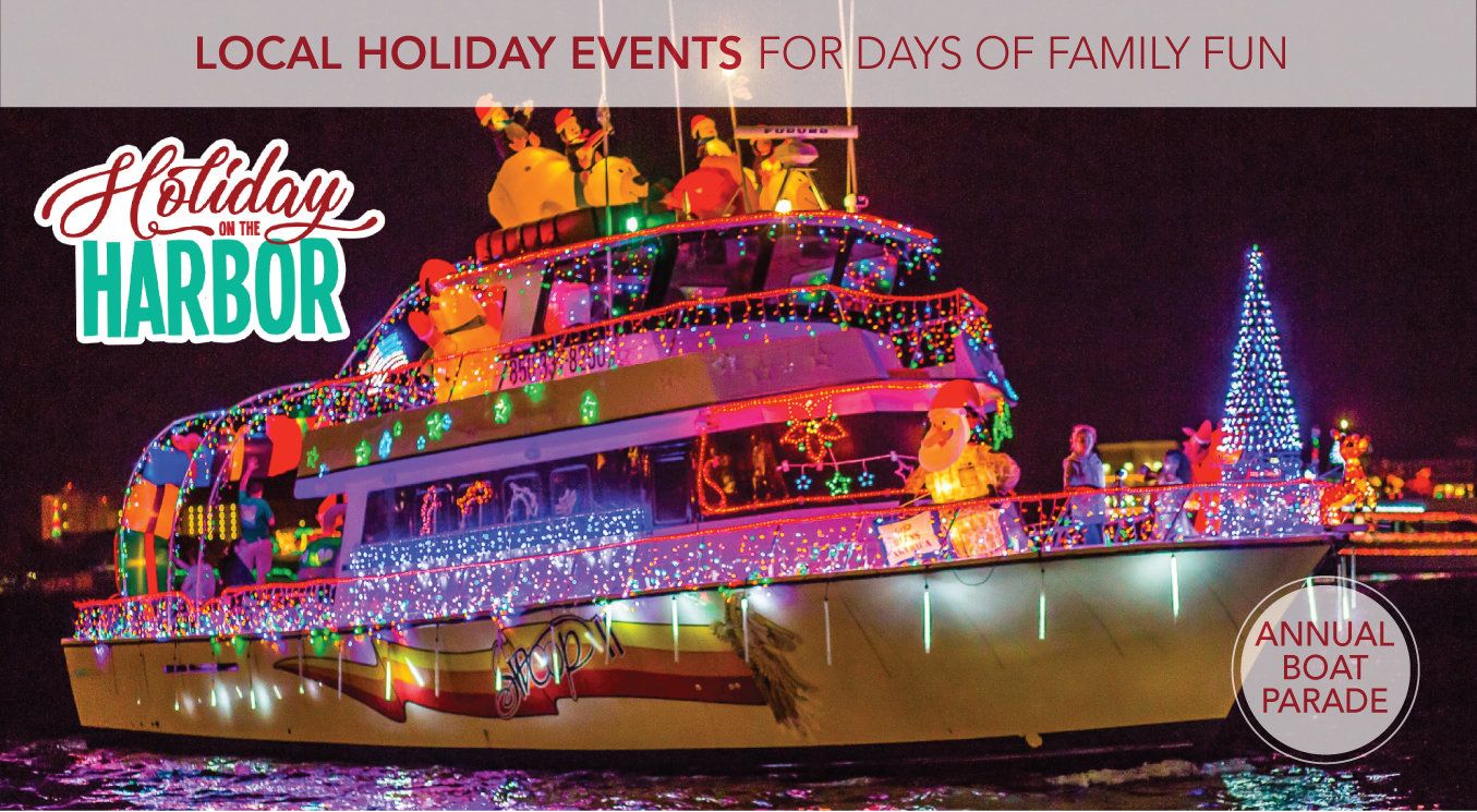 Dec 2019 holiday events boat with lights header